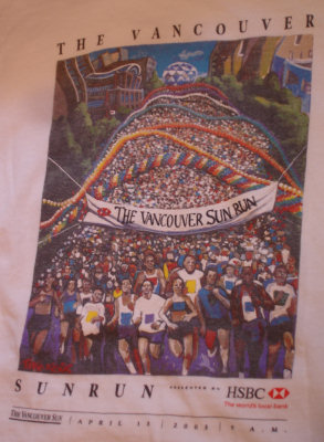 2003 Vancouver Sun Run t-shirt design