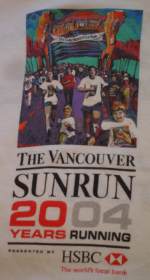 2004 Vancouver Sun Run t-shirt design