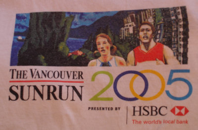 2005 Vancouver Sun Run t-shirt design