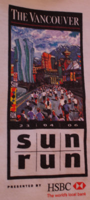 2006 Vancouver Sun Run t-shirt design