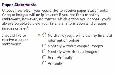 How to stop receiving paper statements at Citizens Bank