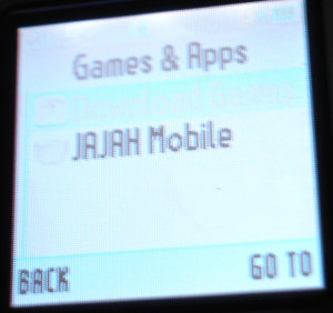 Opening the Jajah Mobile plugin