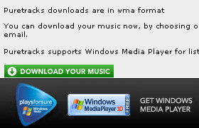 Puretracks incorrect message about downloading .wma instead of .mp3