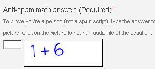 Screenshot of the math anti-spam image