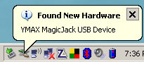 magicJack installing itself