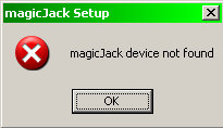 magicJack not found