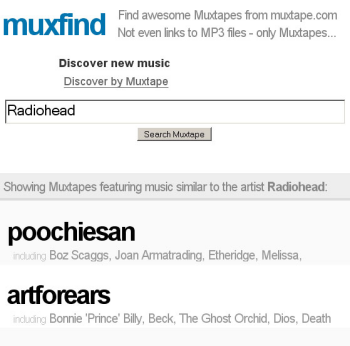 Muxfind: search Muxtapes