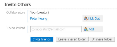 shared folder invite kick Dropbox