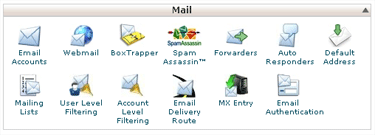 cPanel e-mail options