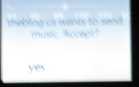 Confirmation of whether you want to accept a song