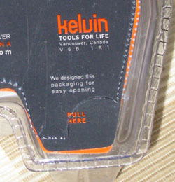 kelvin.23 friendly pull-tab packaging