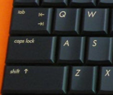 US Left Shift key