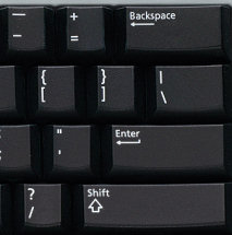 US Enter key