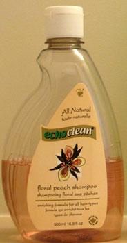 Echoclean shampoo bottle