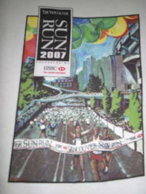 2007 Vancouver Sun Run t-shirt design