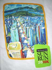 2010 Vancouver Sun Run t-shirt design