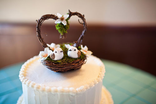 Wedding cake photo by Well, Hello Photography