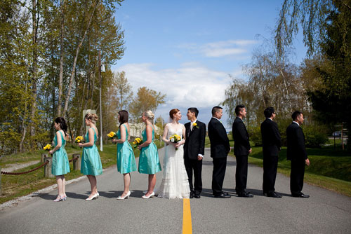 Wedding party by Well, Hello Photography