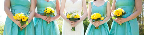 Queensberry Flower Company bridesmaids bouquets